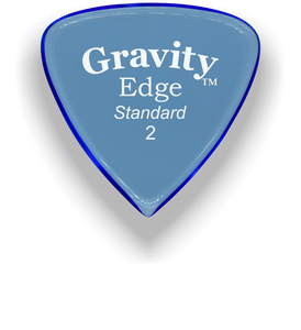 Edge Standard 2.0mm Blue Acrylic Guitar Pick Handmade Custom Best Acoustic Mandolin Electric Ukulele Bass Plectrum Bright Loud Faster Speed