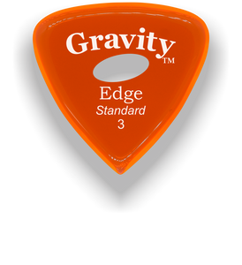 Edge Standard 3.0mm Orange Elipse Grip Acrylic Guitar Pick Handmade Custom Best Acoustic Mandolin Electric Ukulele Bass Plectrum Bright Loud Faster Speed