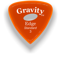 Load image into Gallery viewer, Edge Standard 3.0mm Orange Elipse Grip Acrylic Guitar Pick Handmade Custom Best Acoustic Mandolin Electric Ukulele Bass Plectrum Bright Loud Faster Speed