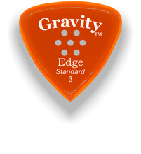 Load image into Gallery viewer, Edge Standard 3.0mm Orange Multi-Hole Grip Acrylic Guitar Pick Handmade Custom Best Acoustic Mandolin Electric Ukulele Bass Plectrum Bright Loud Faster Speed