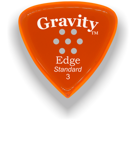 Edge Standard 3.0mm Orange Multi-Hole Grip Acrylic Guitar Pick Handmade Custom Best Acoustic Mandolin Electric Ukulele Bass Plectrum Bright Loud Faster Speed