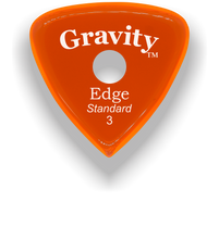 Load image into Gallery viewer, Edge Standard 3.0mm Orange Single Round Grip Acrylic Guitar Pick Handmade Custom Best Acoustic Mandolin Electric Ukulele Bass Plectrum Bright Loud Faster Speed