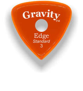Edge Standard 3.0mm Orange Single Round Grip Acrylic Guitar Pick Handmade Custom Best Acoustic Mandolin Electric Ukulele Bass Plectrum Bright Loud Faster Speed
