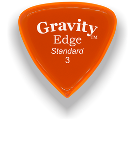 Edge Standard 3.0mm Orange Acrylic Guitar Pick Handmade Custom Best Acoustic Mandolin Electric Ukulele Bass Plectrum Bright Loud Faster Speed