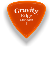 Load image into Gallery viewer, Edge Standard 3.0mm Orange Acrylic Guitar Pick Handmade Custom Best Acoustic Mandolin Electric Ukulele Bass Plectrum Bright Loud Faster Speed