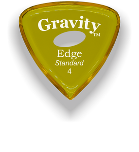 Edge Standard 4.0mm Yellow Elipse Grip Acrylic Guitar Pick Handmade Custom Best Acoustic Mandolin Electric Ukulele Bass Plectrum Bright Loud Faster Speed