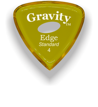 Load image into Gallery viewer, Edge Standard 4.0mm Yellow Elipse Grip Acrylic Guitar Pick Handmade Custom Best Acoustic Mandolin Electric Ukulele Bass Plectrum Bright Loud Faster Speed