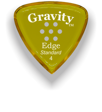 Load image into Gallery viewer, Edge Standard 4.0mm Yellow Multi-Hole Grip Acrylic Guitar Pick Handmade Custom Best Acoustic Mandolin Electric Ukulele Bass Plectrum Bright Loud Faster Speed