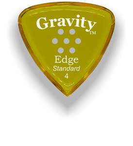 Edge Standard 4.0mm Yellow Multi-Hole Grip Acrylic Guitar Pick Handmade Custom Best Acoustic Mandolin Electric Ukulele Bass Plectrum Bright Loud Faster Speed