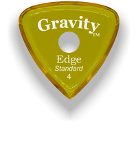 Load image into Gallery viewer, Edge Standard 4.0mm Yellow Single Round Grip Acrylic Guitar Pick Handmade Custom Best Acoustic Mandolin Electric Ukulele Bass Plectrum Bright Loud Faster Speed