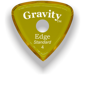 Edge Standard 4.0mm Yellow Single Round Grip Acrylic Guitar Pick Handmade Custom Best Acoustic Mandolin Electric Ukulele Bass Plectrum Bright Loud Faster Speed