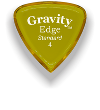 Load image into Gallery viewer, Edge Standard 4.0mm Yellow Acrylic Guitar Pick Handmade Custom Best Acoustic Mandolin Electric Ukulele Bass Plectrum Bright Loud Faster Speed