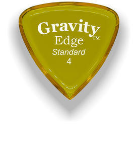 Edge Standard 4.0mm Yellow Acrylic Guitar Pick Handmade Custom Best Acoustic Mandolin Electric Ukulele Bass Plectrum Bright Loud Faster Speed