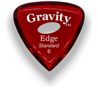Load image into Gallery viewer, Edge Standard 6.0mm Red Elipse Grip Acrylic Guitar Pick Handmade Custom Best Acoustic Mandolin Electric Ukulele Bass Plectrum Bright Loud Faster Speed