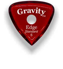 Load image into Gallery viewer, Edge Standard 6.0mm Red Single Round Grip Acrylic Guitar Pick Handmade Custom Best Acoustic Mandolin Electric Ukulele Bass Plectrum Bright Loud Faster Speed