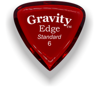 Load image into Gallery viewer, Edge Standard 6.0mm Red Acrylic Guitar Pick Handmade Custom Best Acoustic Mandolin Electric Ukulele Bass Plectrum Bright Loud Faster Speed