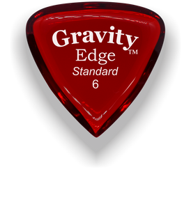 Edge Standard 6.0mm Red Acrylic Guitar Pick Handmade Custom Best Acoustic Mandolin Electric Ukulele Bass Plectrum Bright Loud Faster Speed