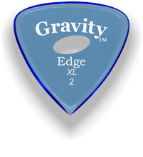Load image into Gallery viewer, Edge XL 2.0mm Blue Elipse Grip Acrylic Guitar Pick Handmade Custom Best Acoustic Mandolin Electric Ukulele Bass Plectrum Bright Loud Faster Speed