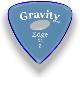 Edge XL 2.0mm Blue Elipse Grip Acrylic Guitar Pick Handmade Custom Best Acoustic Mandolin Electric Ukulele Bass Plectrum Bright Loud Faster Speed