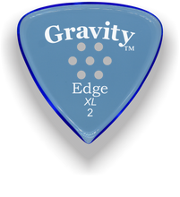 Load image into Gallery viewer, Edge XL 2.0mm Blue Multi-Hole Grip Acrylic Guitar Pick Handmade Custom Best Acoustic Mandolin Electric Ukulele Bass Plectrum Bright Loud Faster Speed