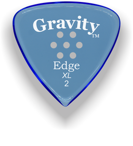 Edge XL 2.0mm Blue Multi-Hole Grip Acrylic Guitar Pick Handmade Custom Best Acoustic Mandolin Electric Ukulele Bass Plectrum Bright Loud Faster Speed
