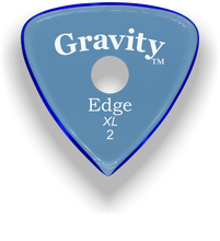 Load image into Gallery viewer, Edge XL 2.0mm Blue Single Round Grip Acrylic Guitar Pick Handmade Custom Best Acoustic Mandolin Electric Ukulele Bass Plectrum Bright Loud Faster Speed