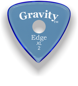 Edge XL 2.0mm Blue Single Round Grip Acrylic Guitar Pick Handmade Custom Best Acoustic Mandolin Electric Ukulele Bass Plectrum Bright Loud Faster Speed