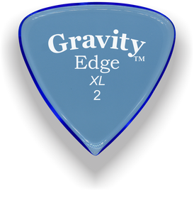 Edge XL 2.0mm Blue Acrylic Guitar Pick Handmade Custom Best Acoustic Mandolin Electric Ukulele Bass Plectrum Bright Loud Faster Speed