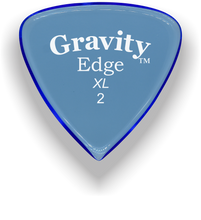Load image into Gallery viewer, Edge XL 2.0mm Blue Acrylic Guitar Pick Handmade Custom Best Acoustic Mandolin Electric Ukulele Bass Plectrum Bright Loud Faster Speed