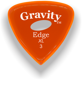 Edge XL 3.0mm Orange Elipse Grip Acrylic Guitar Pick Handmade Custom Best Acoustic Mandolin Electric Ukulele Bass Plectrum Bright Loud Faster Speed