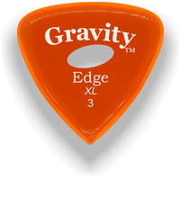 Load image into Gallery viewer, Edge XL 3.0mm Orange Elipse Grip Acrylic Guitar Pick Handmade Custom Best Acoustic Mandolin Electric Ukulele Bass Plectrum Bright Loud Faster Speed