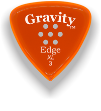 Load image into Gallery viewer, Edge XL 3.0mm Orange Multi-Hole Grip Acrylic Guitar Pick Handmade Custom Best Acoustic Mandolin Electric Ukulele Bass Plectrum Bright Loud Faster Speed