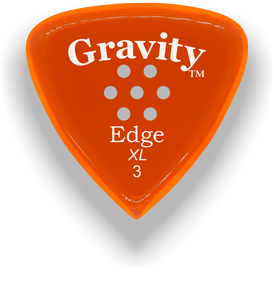 Edge XL 3.0mm Orange Multi-Hole Grip Acrylic Guitar Pick Handmade Custom Best Acoustic Mandolin Electric Ukulele Bass Plectrum Bright Loud Faster Speed