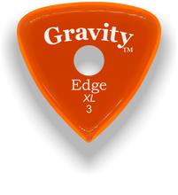Load image into Gallery viewer, Edge XL 3.0mm Orange Single Round Grip Acrylic Guitar Pick Handmade Custom Best Acoustic Mandolin Electric Ukulele Bass Plectrum Bright Loud Faster Speed