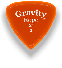 Load image into Gallery viewer, Edge XL 3.0mm Orange Acrylic Guitar Pick Handmade Custom Best Acoustic Mandolin Electric Ukulele Bass Plectrum Bright Loud Faster Speed