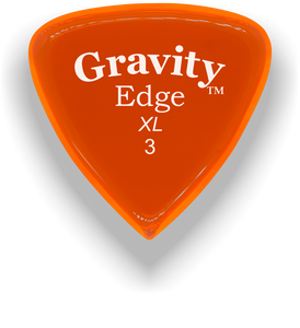 Edge XL 3.0mm Orange Acrylic Guitar Pick Handmade Custom Best Acoustic Mandolin Electric Ukulele Bass Plectrum Bright Loud Faster Speed