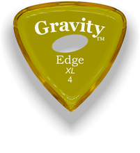 Load image into Gallery viewer, Edge XL 4.0mm Yellow Elipse Grip Acrylic Guitar Pick Handmade Custom Best Acoustic Mandolin Electric Ukulele Bass Plectrum Bright Loud Faster Speed