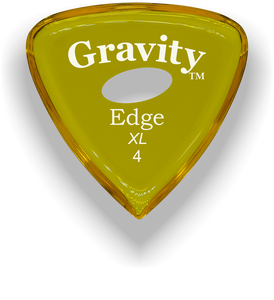 Edge XL 4.0mm Yellow Elipse Grip Acrylic Guitar Pick Handmade Custom Best Acoustic Mandolin Electric Ukulele Bass Plectrum Bright Loud Faster Speed