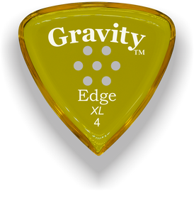 Edge XL 4.0mm Yellow Multi-Hole Grip Acrylic Guitar Pick Handmade Custom Best Acoustic Mandolin Electric Ukulele Bass Plectrum Bright Loud Faster Speed