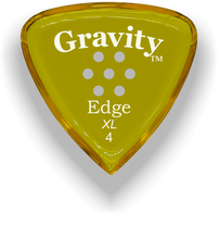 Load image into Gallery viewer, Edge XL 4.0mm Yellow Multi-Hole Grip Acrylic Guitar Pick Handmade Custom Best Acoustic Mandolin Electric Ukulele Bass Plectrum Bright Loud Faster Speed