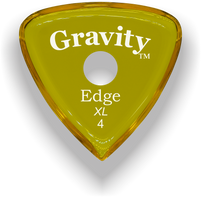 Load image into Gallery viewer, Edge XL 4.0mm Yellow Single Round Grip Acrylic Guitar Pick Handmade Custom Best Acoustic Mandolin Electric Ukulele Bass Plectrum Bright Loud Faster Speed