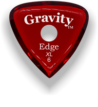 Load image into Gallery viewer, Edge XL 6.0mm Red Single Round Grip Acrylic Guitar Pick Handmade Custom Best Acoustic Mandolin Electric Ukulele Bass Plectrum Bright Loud Faster Speed