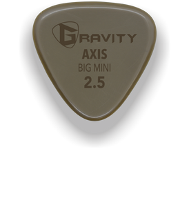 Axis Big Mini 2.5mm Gold Guitar Pick Handmade Custom Best Acoustic Mandolin Electric Ukulele Bass Plectrum Bright Loud Faster Speed