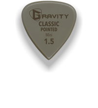 Load image into Gallery viewer, Classic Pointed Mini Jazz 1.5mm Gold Guitar Pick Handmade Custom Best Acoustic Mandolin Electric Ukulele Bass Plectrum Bright Loud Faster Speed