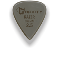 Load image into Gallery viewer, Razer Big Mini 2.5mm Gold Guitar Pick Handmade Custom Best Acoustic Mandolin Electric Ukulele Bass Plectrum Bright Loud Faster Speed