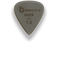 Load image into Gallery viewer, Razer Mini Jazz 1.5mm Gold Guitar Pick Handmade Custom Best Acoustic Mandolin Electric Ukulele Bass Plectrum Bright Loud Faster Speed