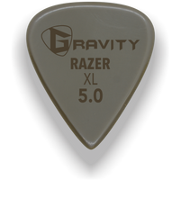 Load image into Gallery viewer, Razer XL 5.0mm Gold Guitar Pick Handmade Custom Best Acoustic Mandolin Electric Ukulele Bass Plectrum Bright Loud Faster Speed