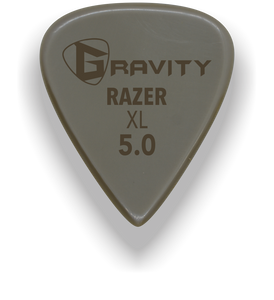 Razer XL 5.0mm Gold Guitar Pick Handmade Custom Best Acoustic Mandolin Electric Ukulele Bass Plectrum Bright Loud Faster Speed