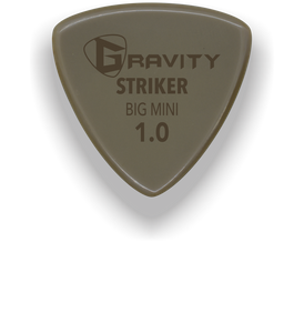 Striker Big Mini 1.0mm Gold Guitar Pick Handmade Custom Best Acoustic Mandolin Electric Ukulele Bass Plectrum Bright Loud Faster Speed