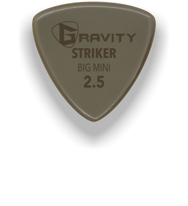Striker Big Mini 2.5mm Gold Guitar Pick Handmade Custom Best Acoustic Mandolin Electric Ukulele Bass Plectrum Bright Loud Faster Speed